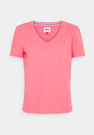 SOFT V NECK TEE - T-shirts basic - botanical pink