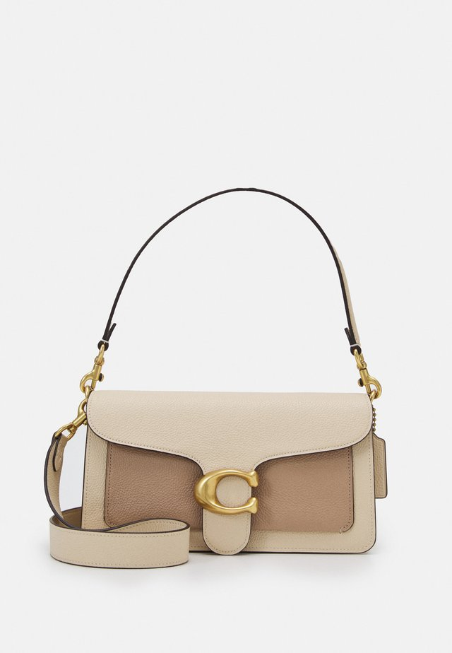 COLORBLOCK TABBY SHOULDER BAG - Håndtasker - ivory/taupe/multi