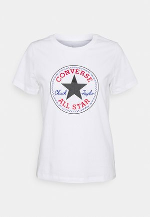 CHUCK TAYLOR ALL STAR PATCH TEE - Print T-shirt - white