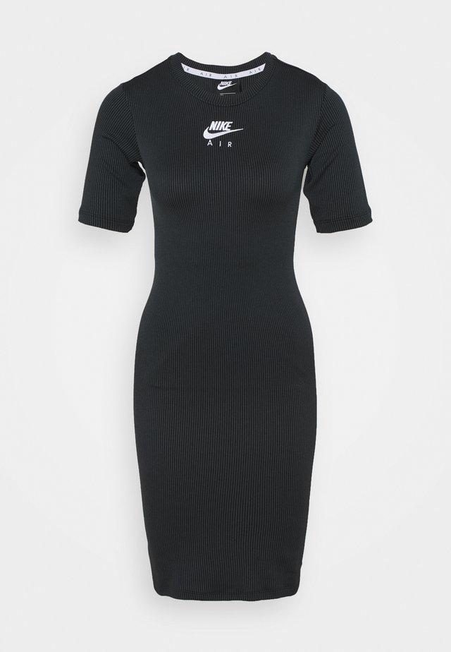 AIR DRESS - Shift dress - black/iron grey/white