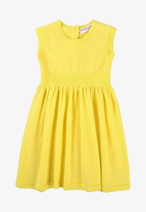 Pletené šaty - yellow