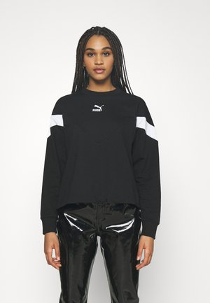 ICONIC CROPPED CREW - Felpa - black