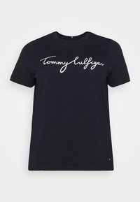 Tommy Hilfiger Curve - CREW NECK GRAPHIC TEE - Print T-shirt - desert sky - 3
