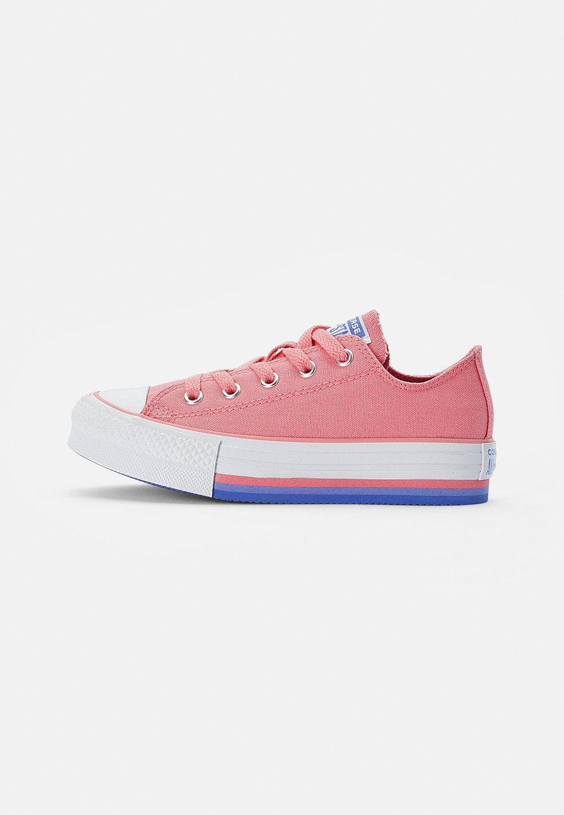 Converse - CHUCK TAYLOR ALL STAR PLATFORM MIDSOLE - Trainers - pink coral/white/purple sapphire