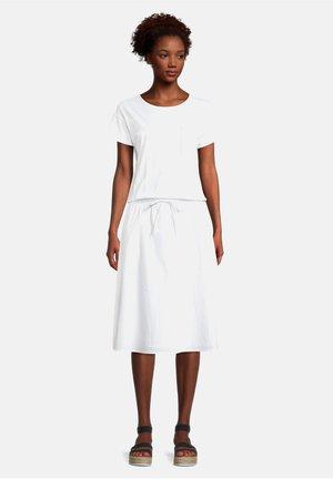 CASUAL KURZARM - Jersey dress - weiß