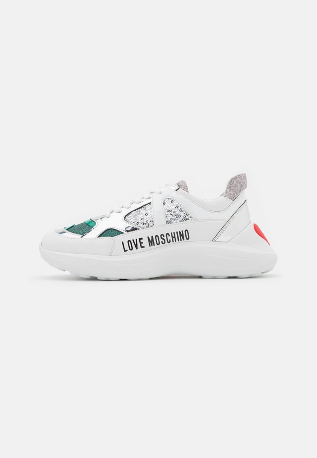 Sneakers laag - white/turquoise/multi-coloured