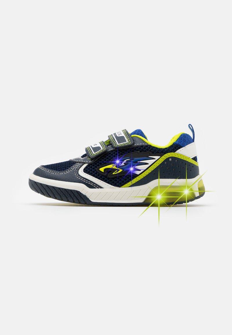 Geox - INEK BOY - Trainers - navy/lime