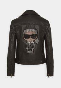 KARL LAGERFELD - IKONIK  BIKER JACKET - Leather jacket - black - 8