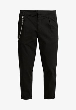 LEE CROPPED PANTS - Bukser - black