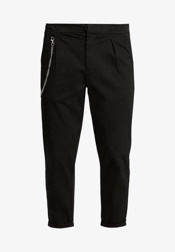 LEE CROPPED PANTS - Pantaloni - black