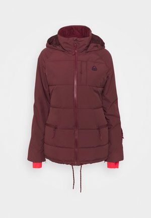 KEELAN - Snowboardová bunda - dark red