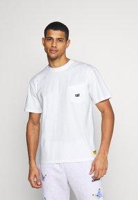 Caterpillar - BASIC POCKET CAT  - T-shirt basic - cream - 0