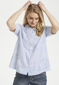 Button-down blouse - blue milkboy stripe