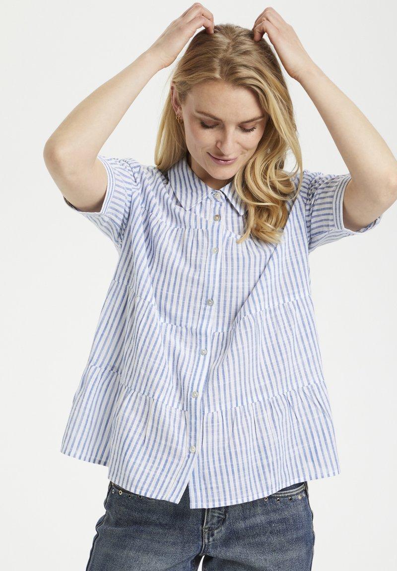 Cream - Button-down blouse - blue milkboy stripe