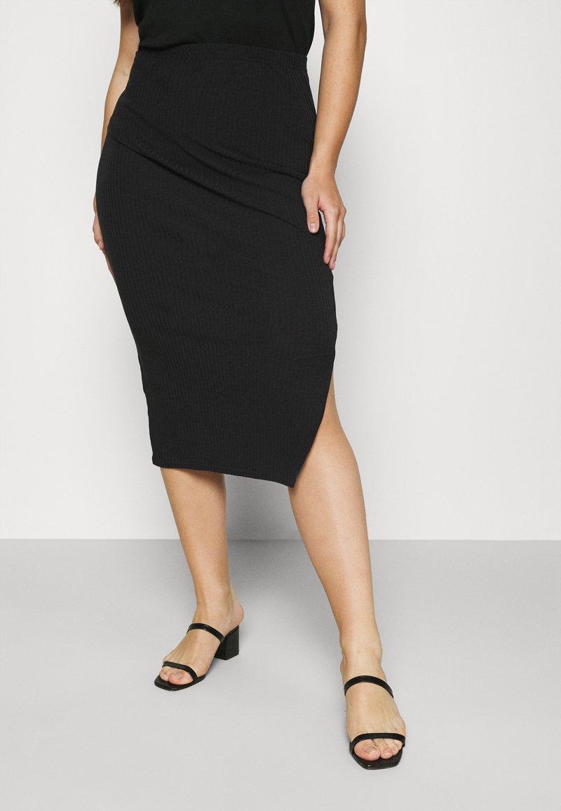 Missguided Plus - MIDI SKIRT - Pencil skirt - black