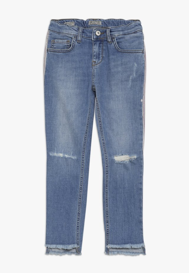 ISABELLA RIPPED - Slim fit jeans - silvery wash
