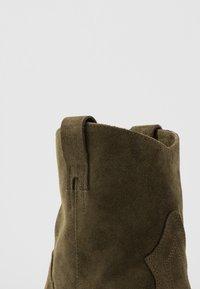 Lazamani - Cowboy/biker ankle boot - verde - 2