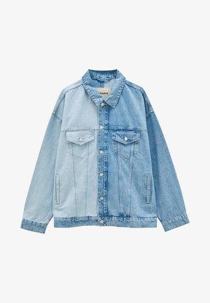 MIT COLOUR-BLOCK - Denim jacket - blue denim