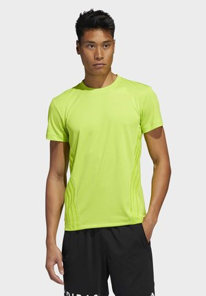 AEROREADY 3-STRIPES T-SHIRT - Basic T-shirt - green