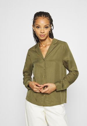 OBJTILDA RORY - Button-down blouse - burnt olive
