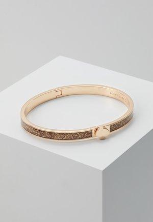GLITTER THIN SPADE BANGLE - Armband - rosegold-coloured