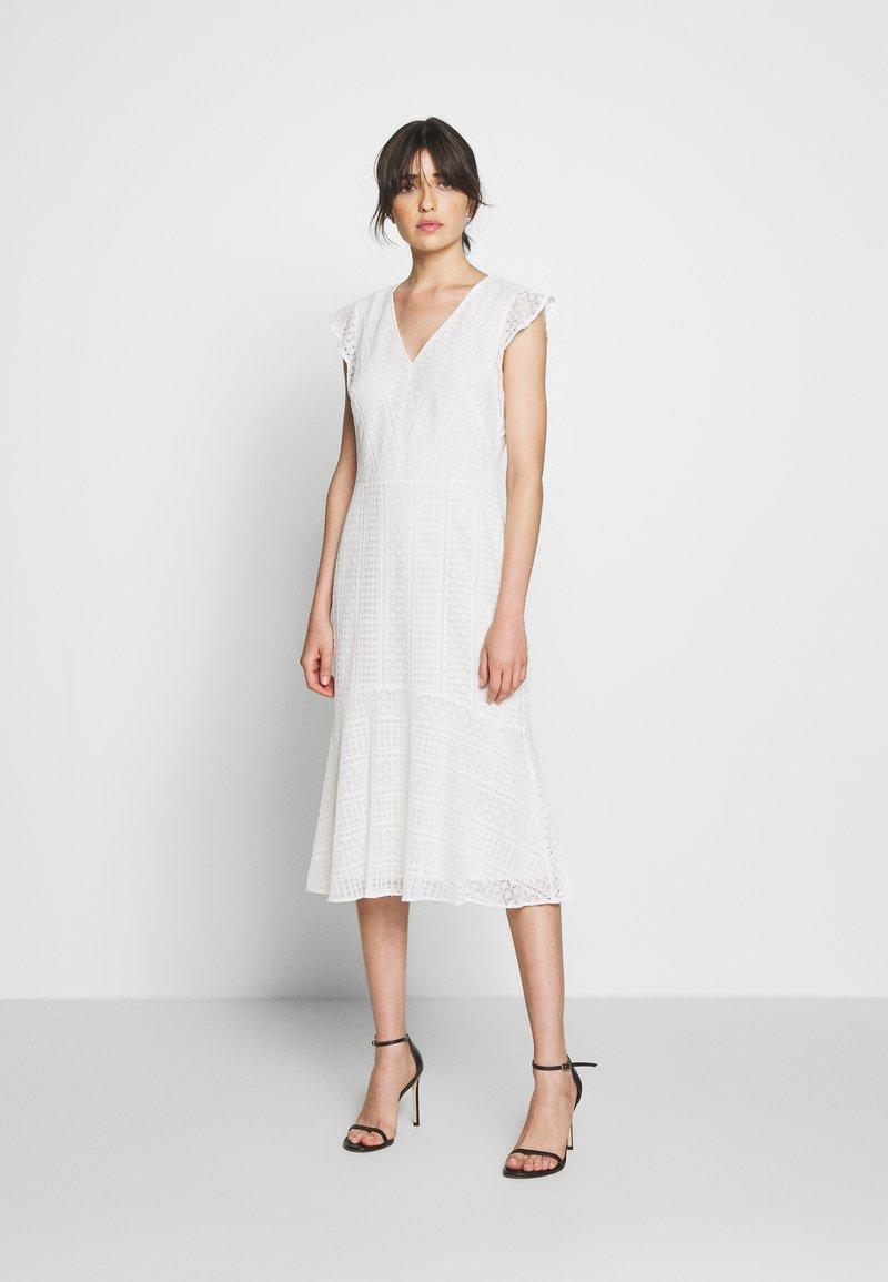 Lauren Ralph Lauren - MULTISTITCH DRESS - Day dress - matte ivory