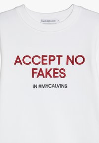 Calvin Klein Jeans - SLOGAN - Sweatshirts - white - 3