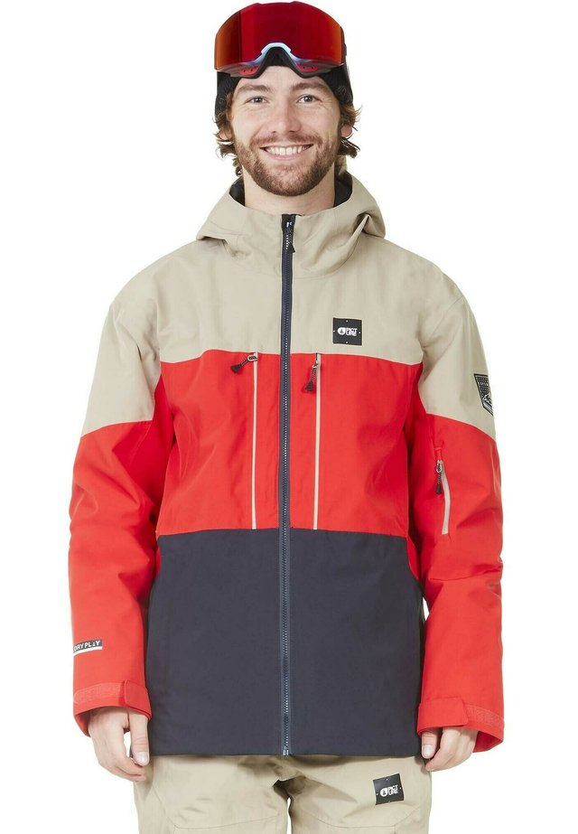 PICT OBJECT - Snowboard jacket - b red dark blue