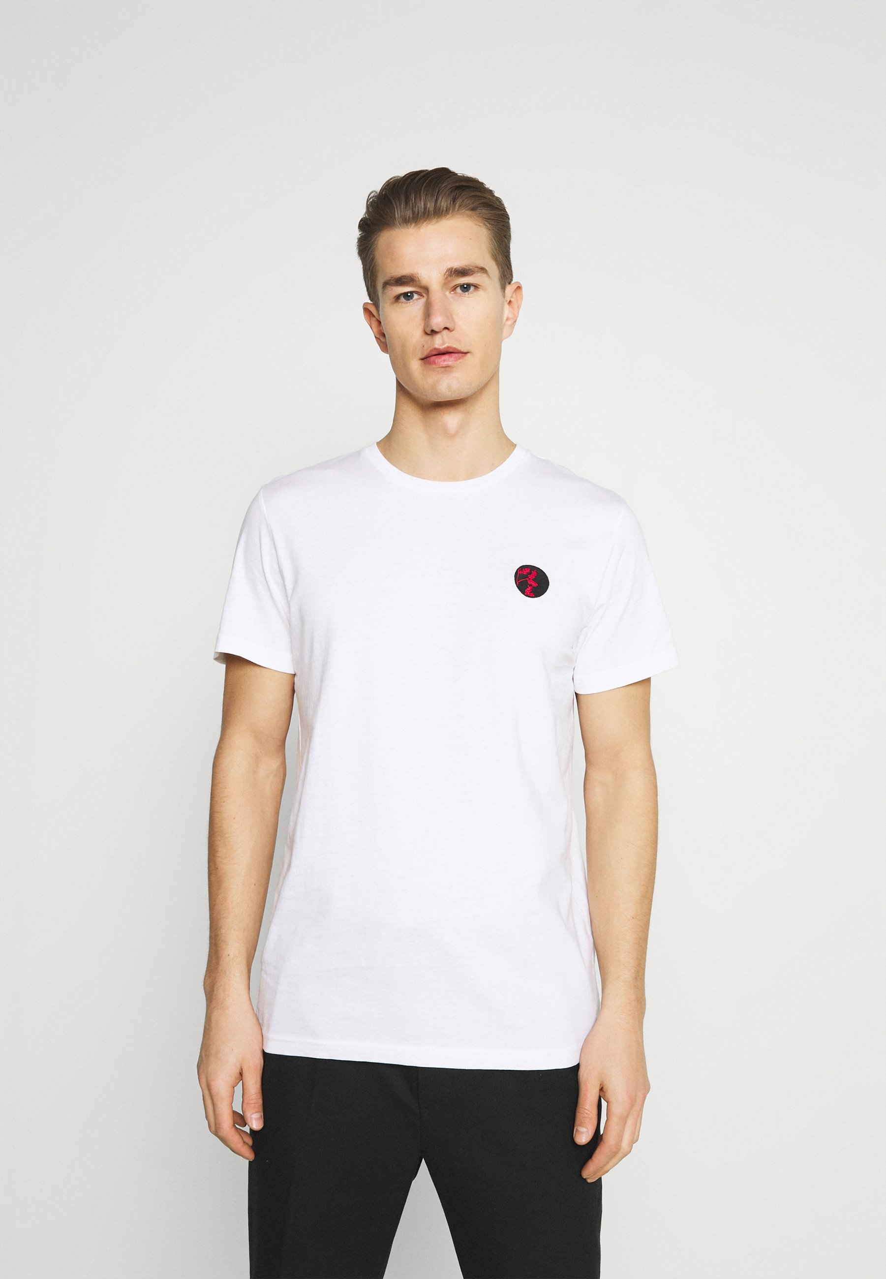 Homme SLHANDRE O NECK TEE - T-shirt imprimé