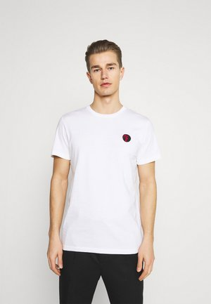 SLHANDRE O NECK TEE - Print T-shirt - brilliant white
