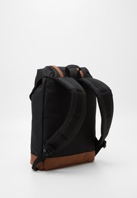 Herschel - RETREAT - Rucksack - black/saddle brown - 1