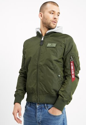 HOOD - Bomber bunda - dark green