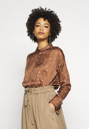 ROBERTAIW - Button-down blouse - cinnamon small leaf