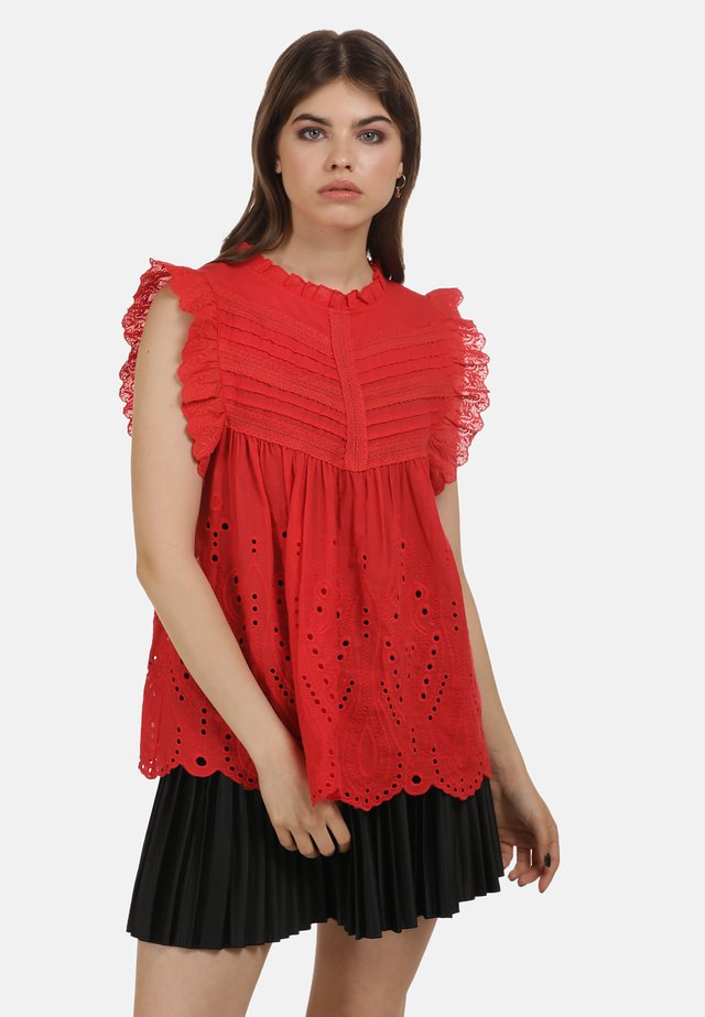 TOP - Blouse - rot