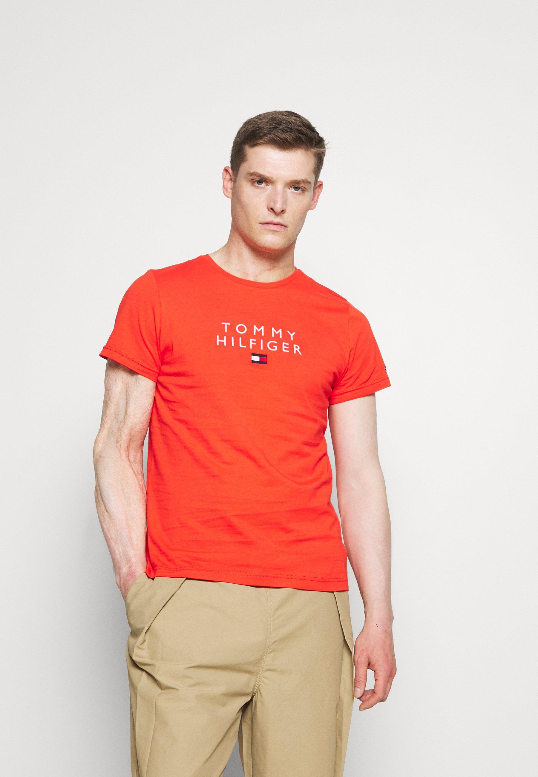 Men STACKED FLAG TEE - Print T-shirt