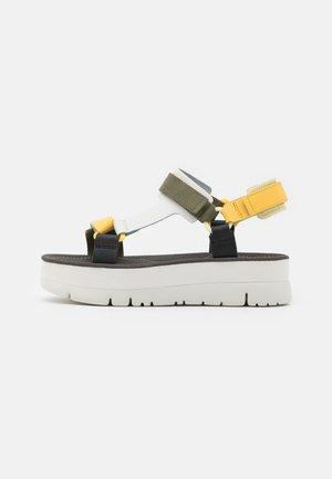 ORUGA UP - Platform sandals - yellow