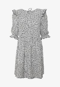 Miss Selfridge - TEXTURED MINI DRESS - Denní šaty - white - 4