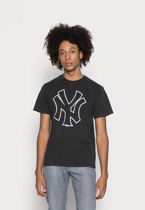 NEW YORK YANKEES WASHED ECHO TEE - T-shirt print - charcoal