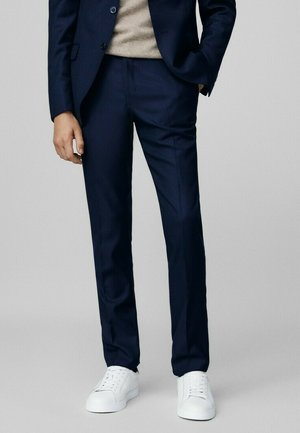 SLIM FIT - Suit trousers - blue-black denim