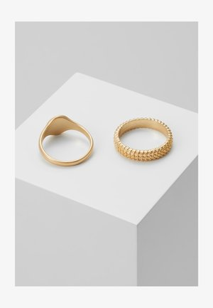 BOBBLE RING AND SIGNET 2 PACK - Ring - gold-coloured