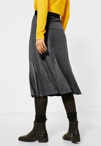 Street One - MIT GLITZER COATING - A-line skirt - grau - 2