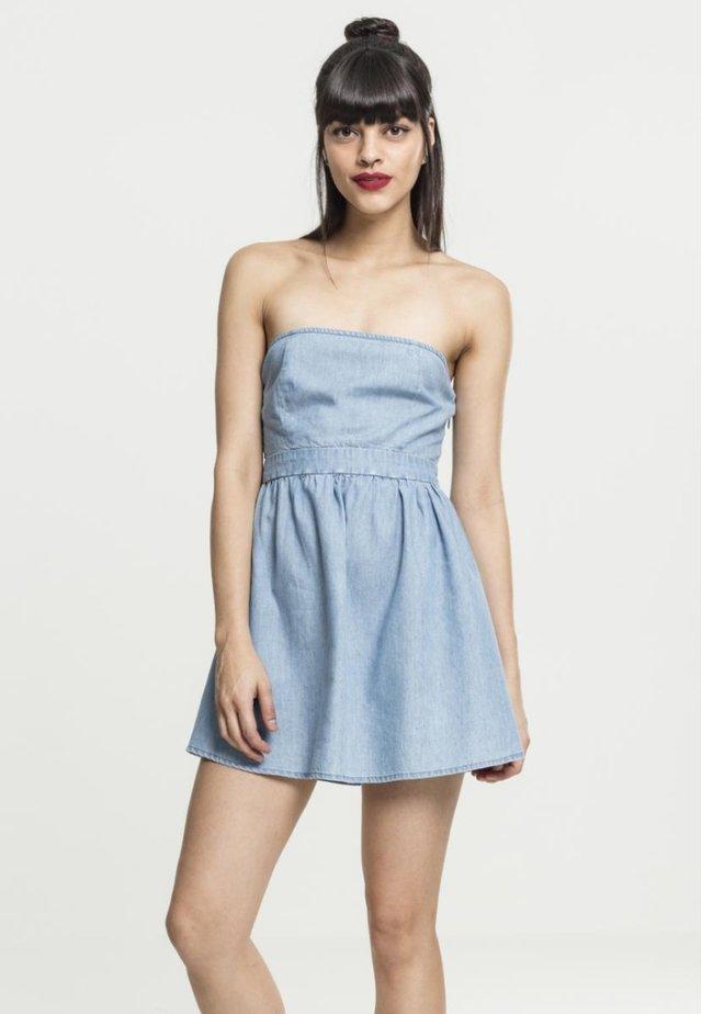 BANDEAU - Sukienka jeansowa - light blue denim
