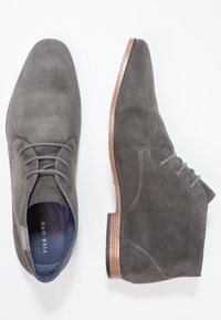 Pier One - Smart lace-ups - shark/cognac - 1