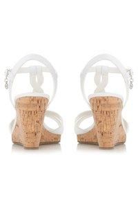 Dune London - KOALA - Wedge sandals - white - 1