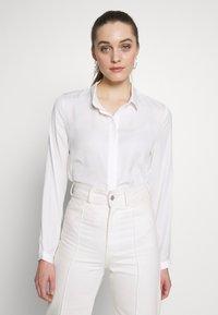 Moss Copenhagen - BLAIR - Button-down blouse - cloud white - 0