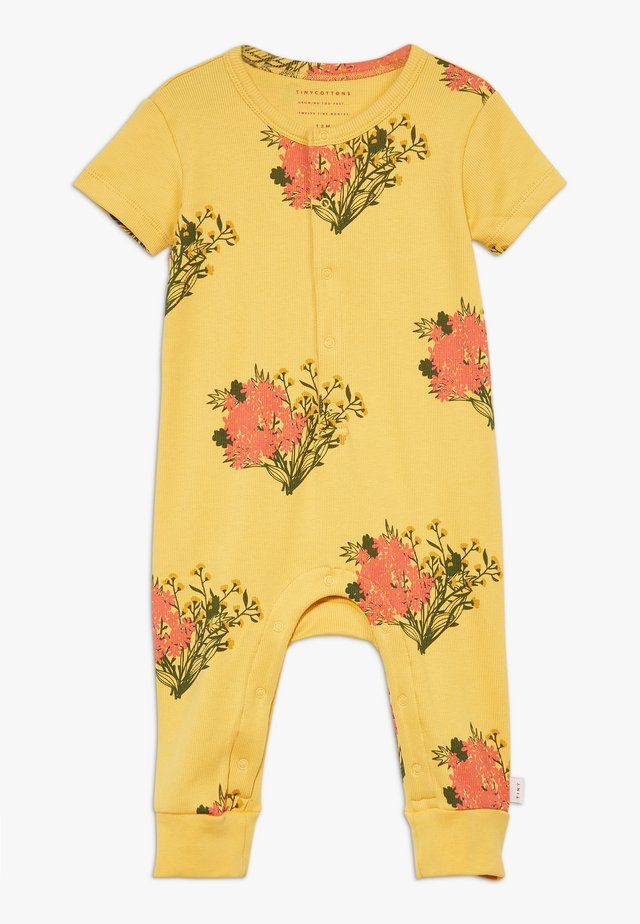 FLOWERS ONE PIECE - Jumpsuit - yellow/light red
