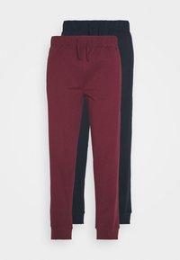 2 PACK - Pyjama bottoms - dark blue/bordeaux