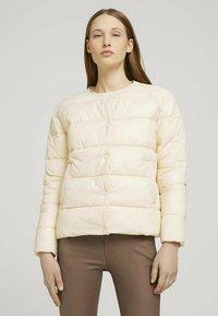 TOM TAILOR DENIM - KRAGENLOSE  - Winter jacket - blazed beige - 0