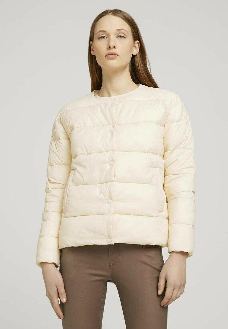 TOM TAILOR DENIM - KRAGENLOSE  - Winter jacket - blazed beige