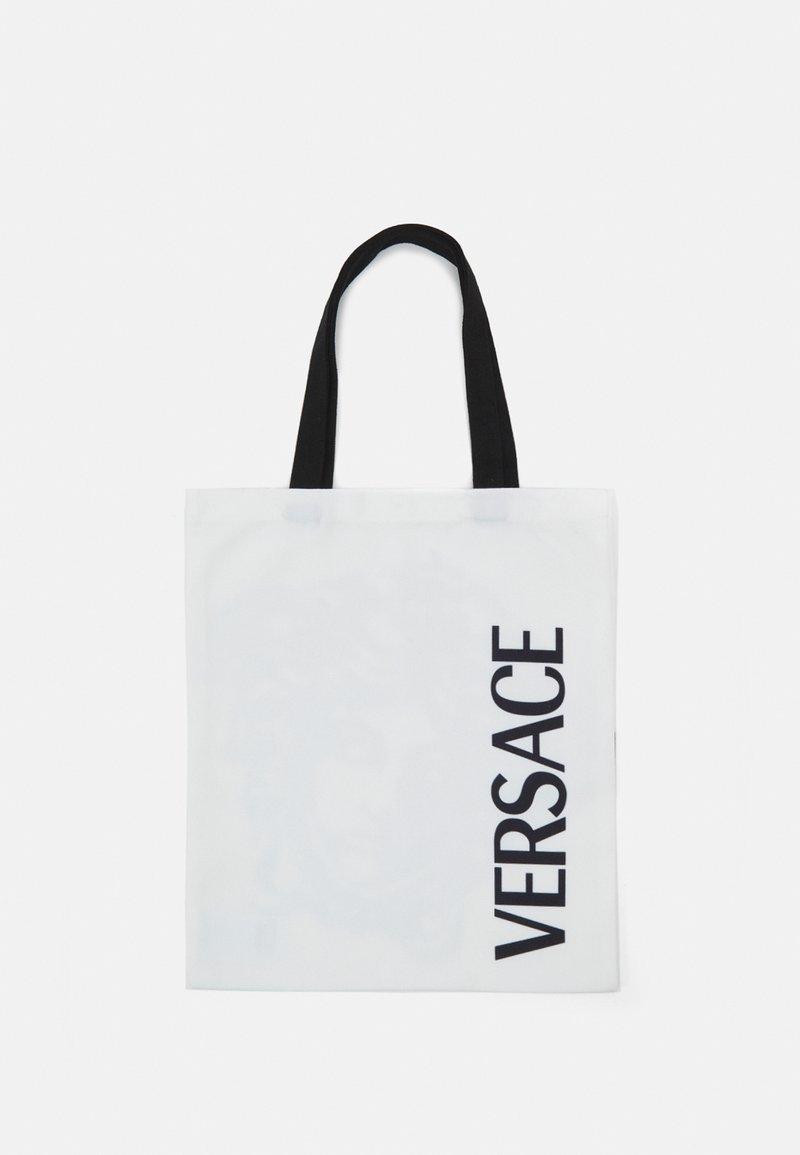 Versace - MEDUSA TOTE - Across body bag - bianco/nero
